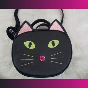 Betsey Johnson Kitsch Black Cat Lunch Tote